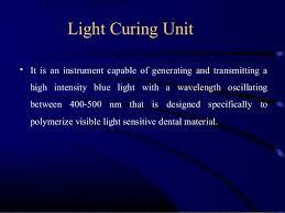 Blue Light Wavelength Light Curing Units Dr Jagadeesh Kodithyala