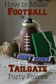 football favors how to make easy football tailgate party favors jen around the world