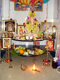 Decoration For Puja At Home by Bonding U2013 Softypink N Gloriousred