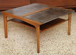 leather top side table gorgeous john van koert leather top table for drexel at 1stdibs