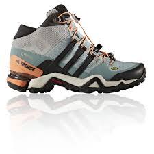 womens boots tex adidas terrex fast r mid womens blue tex waterproof walking