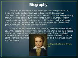 beethoven biography in brief ludwig van beethoven презентація з англійської мови
