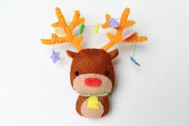 pdf pattern felt reindeer ornament