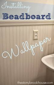 installing beadboard wallpaper wallpaper house and kitchens