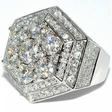 custom rings for men ctw mens diamond moissanite ring white gold 10k custom ring