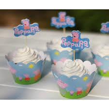 peppa pig cupcakes peppa pig cupcake toppers partyland new zealand s birthday