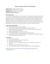 best solutions of academic support cover letter with heading of