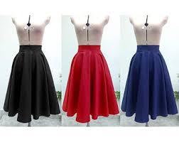 cotton skirt high waisted skirt etsy