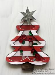 cards by regina christmas tree shaker card in shadow box