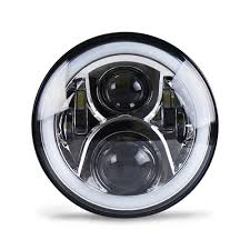 jeep headlights halo 7 inch led headlights kit rgb with bluetooth remote halo ring