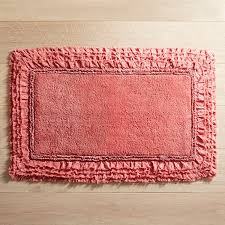 Coral Color Bathroom Rugs Frayed Edge Coral 21x34 Bath Rug Bath Rugs And Products