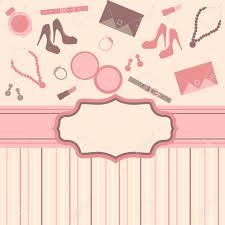 Fashion Stuff Fashion Card Background With Stuff Royalty Free Cliparts