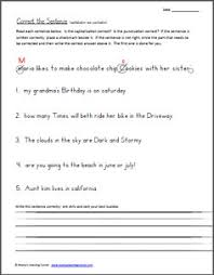free capitalization practice 5th literacy stations pinterest