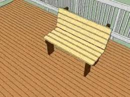 Wooden Deck Bench Plans Free by Free Deck Bench Plans Youtube
