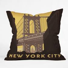 anderson design group nyc manhattan bridge throw pillow