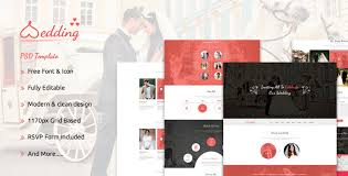 Wedding Magazine Template The Wedding Bootstrap Responsive Psd Template By It Geeks