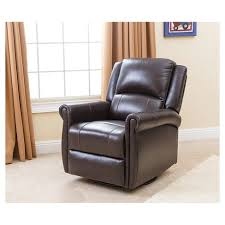 abbyson living bradford faux leather reclining sofa elena leather swivel glider recliner brown abbyson living target