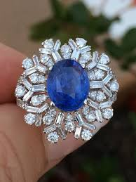 blue rings ebay images 18k gold 6 42 ct gia certified no 1 heat blue ceylon sapphire jpg