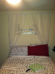 7 diy canopy with sheer ikea panels and curtain rod decor for