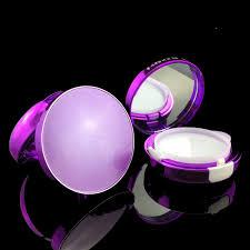 round compact powder cc bb air cushion cosmetic cream case with