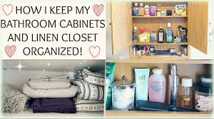 bathroom cabinet and linen closet organization kasey chagnon