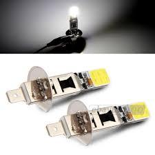 Led White Light Bulbs by 2x H1 Cob Led White Fog Driving Parking Light Lamp Bulbs Car Ebay