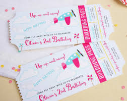 airplane birthday invitation airplane ticket invitation