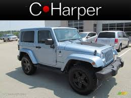 white jeep with teal accents 2012 winter chill pearl jeep wrangler sahara arctic edition 4x4