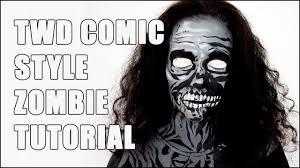 the walking dead comic book zombie halloween makeup tutorial youtube