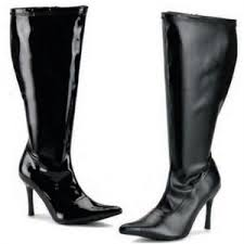 womens boots size 9 wide calf wide calf wide width boots black patent leather shiny