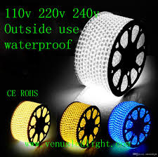strips of led lights 100m led strip light 60led flexible 110v 220v waterproof smd 3528