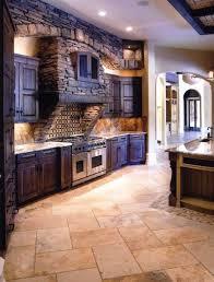 Stone Kitchen Flooring by Best 25 Dark Wood Kitchens Ideas On Pinterest Beautiful Kitchen