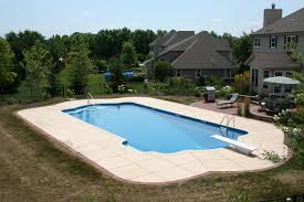 Deep Backyard Pool by Roman Shaped Pool Swimming Pool Services