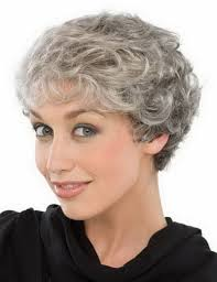 perms for older grey hair women heat resistant synthetic silver grey short curly wigs for old