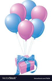 balloons gift balloons gift royalty free vector image vectorstock