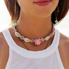 shell necklace images Cowrie shell necklace hemp necklace flower necklace hemp beadery jpg