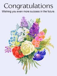 congratulatory cards flower bouquet congratulations card a gorgeous watercolor
