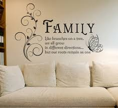 family like branches quotes butterfly vinyl wall sticker flower