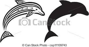 dolphin tribal tattoo design dolphin tattoo in tribal eps