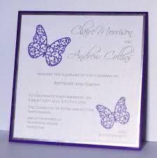 Single Invitation Cards Wedding Invitations Butterfly Wedding Invitation Cards Chic