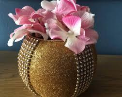 gold flower vase etsy