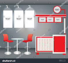 promotion counter display chair banner vector stock vector