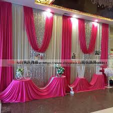wedding backdrop decorations luxury sequins wedding stage background 10ftx20ft white curtain with