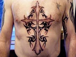 chest cross tattoo ideas for men inofashionstyle com