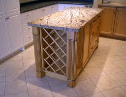 kitchen island with wine storage wooden kitchen island with wine rack and granite top diy home