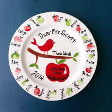 painted platters personalized personalised ceramic gift plate painted and