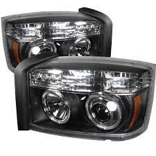 2007 dodge dakota lights 2005 2007 dodge dakota halo eye projector headlights black