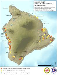map of hawaii big island map charts dengue fever spread on hawaii