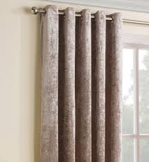 Curtains 46 Inches Bronze Gold Luxury Crushed Velvet Eyelet Ring Top Curtains Fully