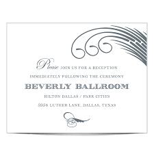 wedding reception card wording dallas recpetion card www tilliecreativedesign comwww